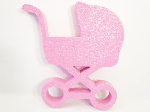 Baby Carriage Styrofoam cutout - Designs by Ginny