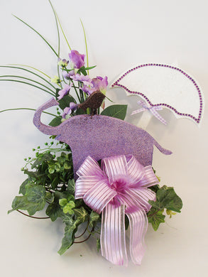 Elephant baby shower centerpiece - Designs by Ginny