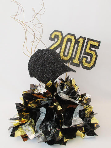 Baseball cap sports or graduation centerpiece