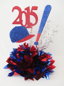 Baseball themed centerpiece - Designs by Ginny