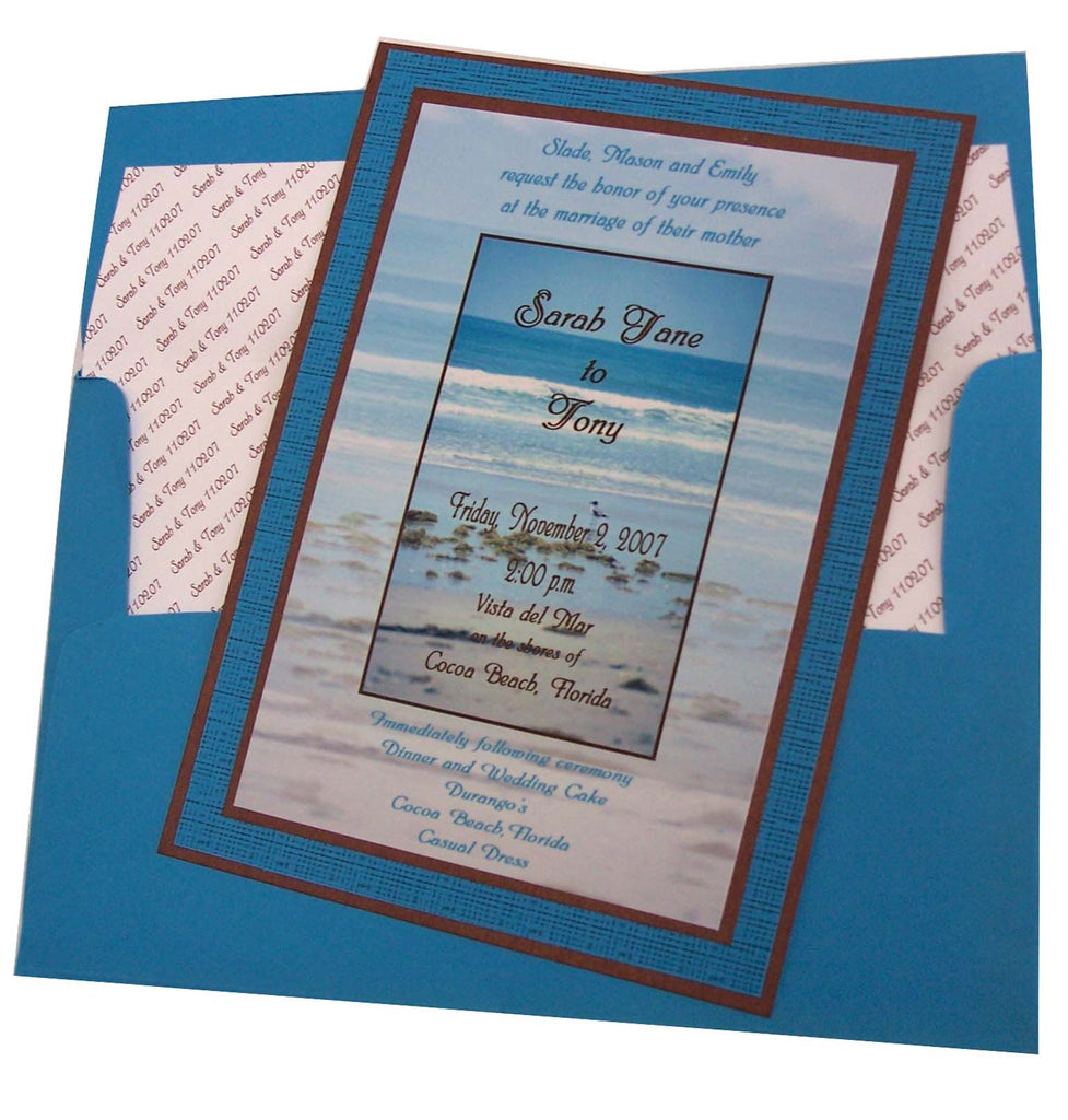 Beach Wedding Invite