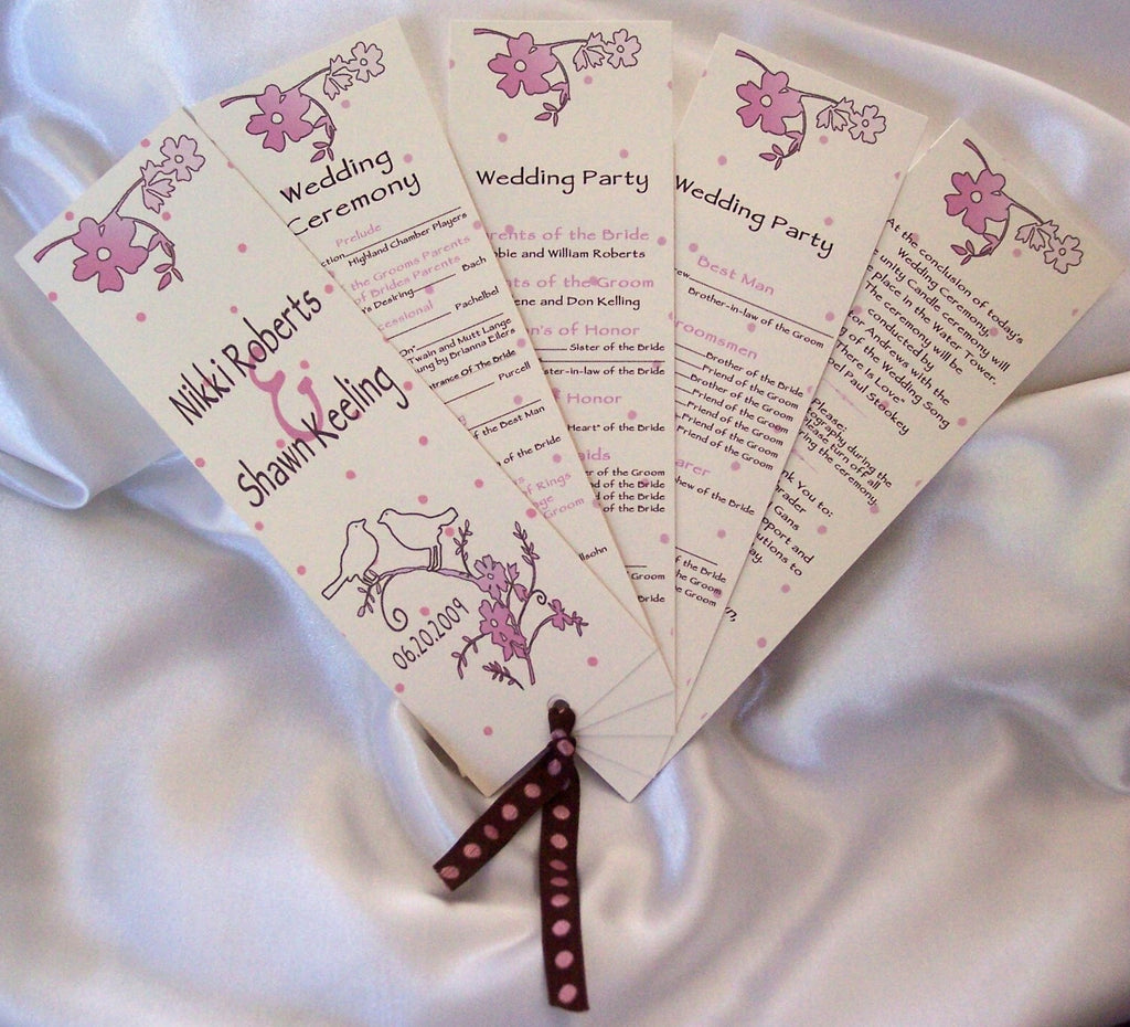 Fan style wedding program - Designs by Ginny