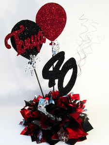 40th birthday centerpiece - Designs by Ginny