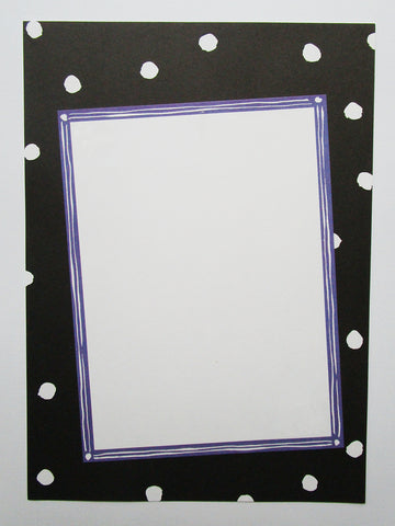 Black and White polka dot border - Designs by Ginny