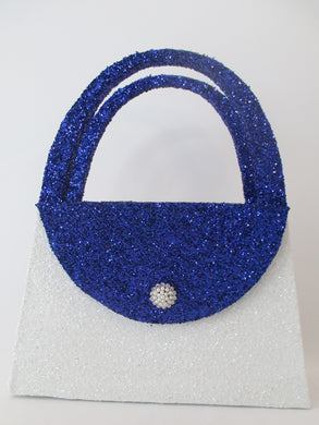Blue & white styrofoam purse - Designs by Ginny
