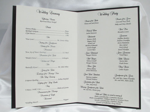 Booklet Style Wedding program - Designs by ginny