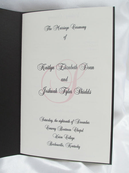 Booklet with Picture Wedding Program