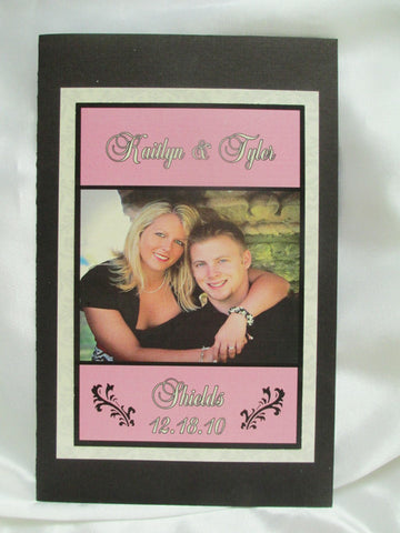 Picture booklet Style wedding program - Designs by Ginny
