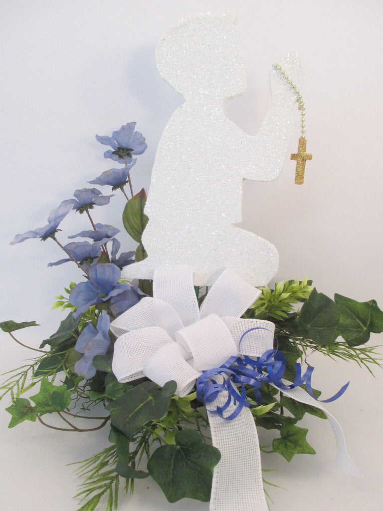 Boy praying centerpiece - Designs by Ginny
