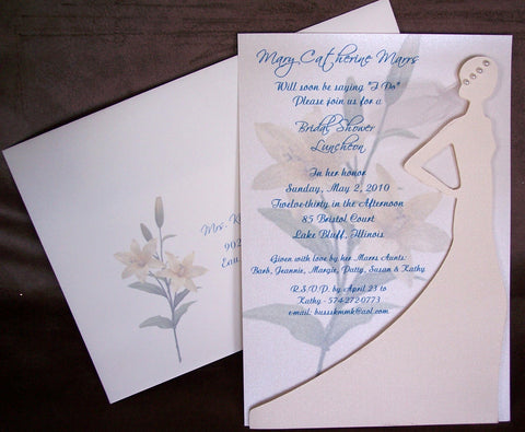 Bridal shower invite - Designs by Ginny