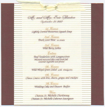 Triple Layered Menu Card