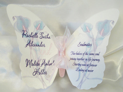 Butterfly style wedding program - Designs by Ginny