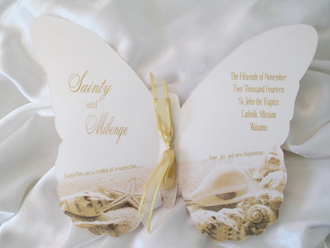 Butterfly wedding program - Designs by Ginny