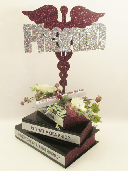 Faux Stack of Books with Cover - Centerpiece Base
