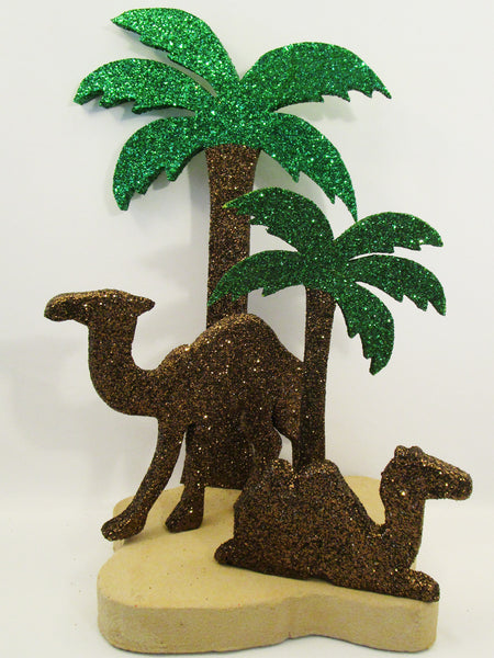 Camel & Palm Tree Centerpiece - Designs by Ginny