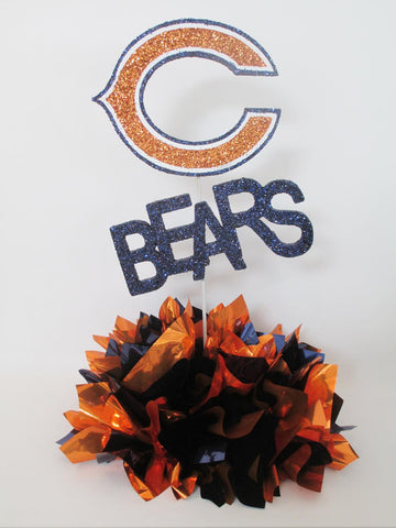 Chicago Bears Table Centerpiece - Designs by Ginny