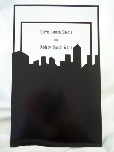 Chicago Skyline Wedding Invite
