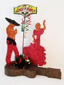 Mexican dancers centerpiece - Designs by Ginny