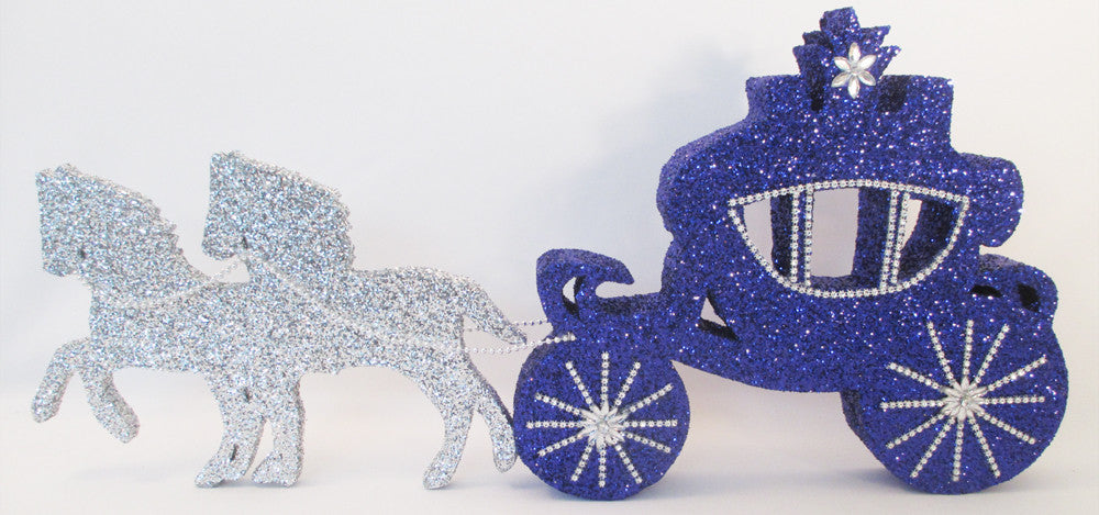 Cinderella Carriage and horses centerpiece - Designs by Ginny