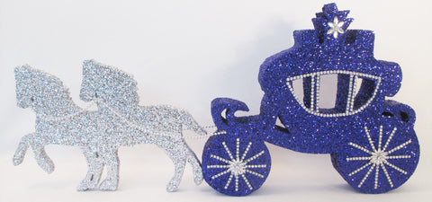 Cinderella Carriage and Horses Styrofoam Centerpiece