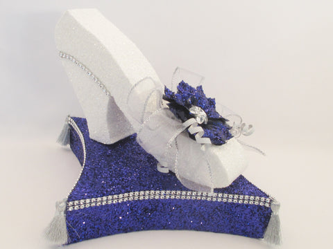 Cinderella shoe on pillow centerpiece - Designs by Ginny