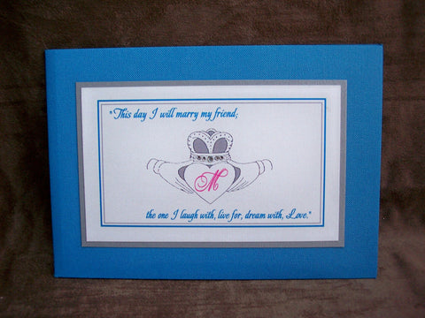 Irish Claddagh Wedding Invite