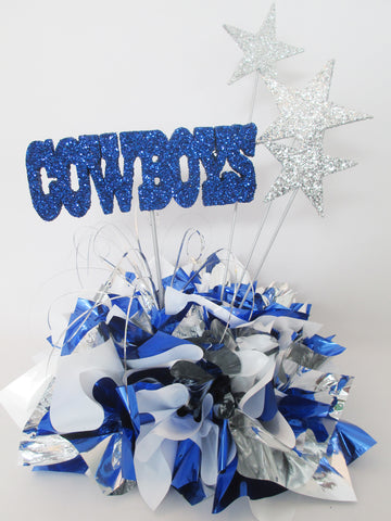 Cowboys table centerpiece - Designs by Ginny