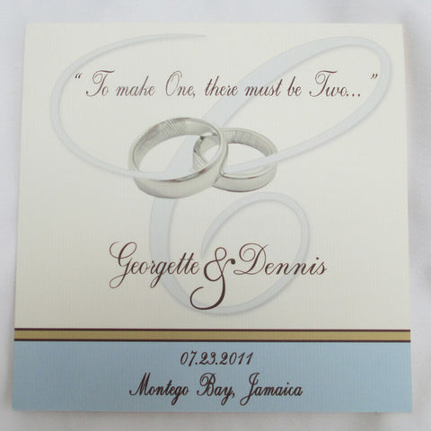 Wedding Rings Square Wedding program