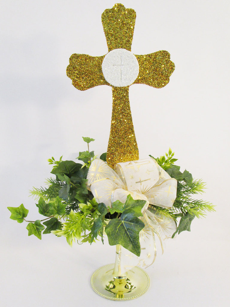 Religious Cross Centerpiece - Designs by Ginny