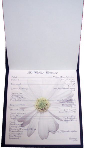 Daisy Wedding Program