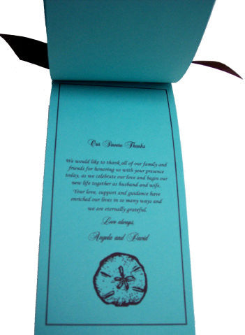 Sand Dollar Wedding Invite