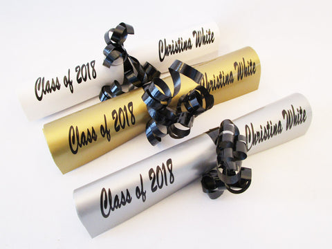 Faux graduation diploma - Designs by Ginny