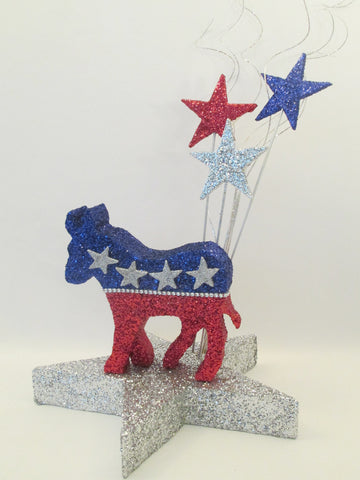 Democratic Donkey on star base centerpiece - Designs by Ginny
