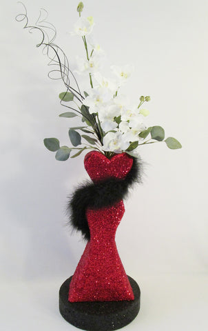 Dress Form Shape Styrofoam Centerpiece