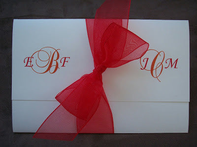Fold-over with Bow Wedding Invite