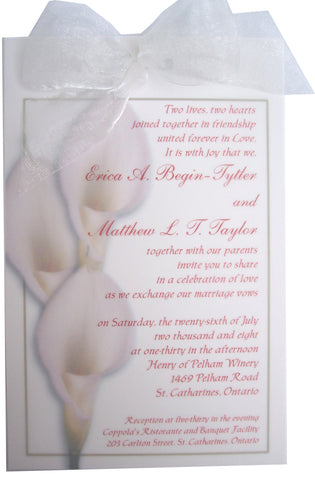 Calla Lily Wedding Invite - Designs by Ginny