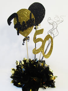 50th birthday centerpiece - Designs by Ginny