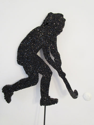 Female Field Hockey Styrofoam Cutout
