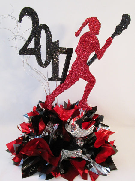 Female Lacrosse Player Centerpiece - Designs by Ginny