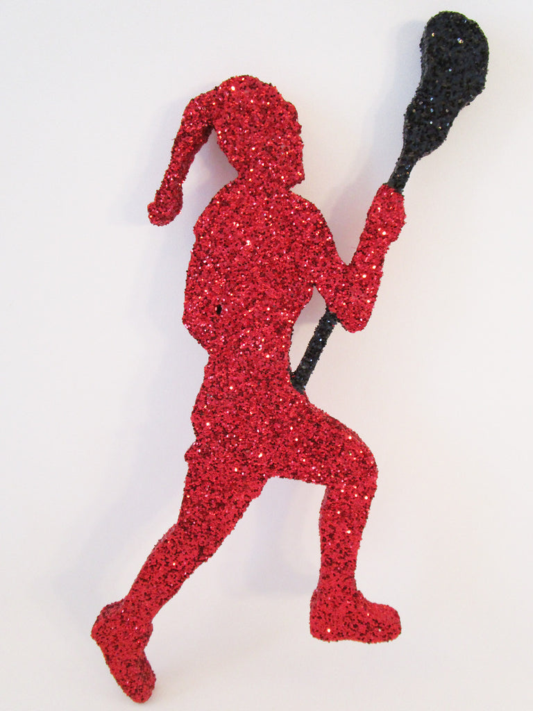 Female Lacrosse Player Cutout - Designs by Ginny