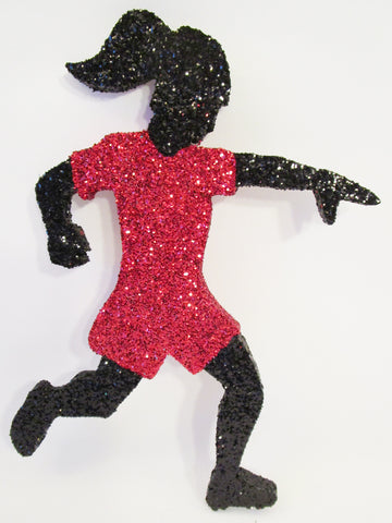 Female Soccer Player Cutout