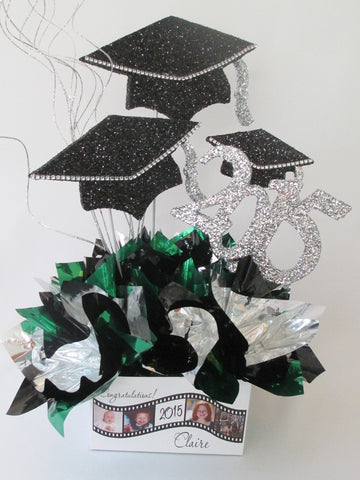 Grad Caps & filmstrip base & year Centerpiece