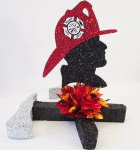 Fireman themed Centerpiece - Designs by Ginny
