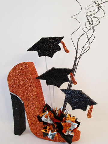 Graduation High Heel Shoe centerpiece - Designs by Ginny