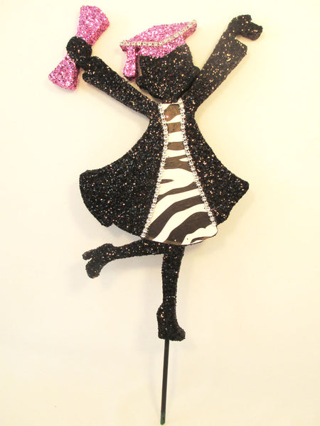 Grad girl cutout with zebra accents - Designs by Ginny
