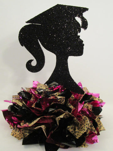 Barbie Style grad girl silhouette centerpiece - Designs by Ginny