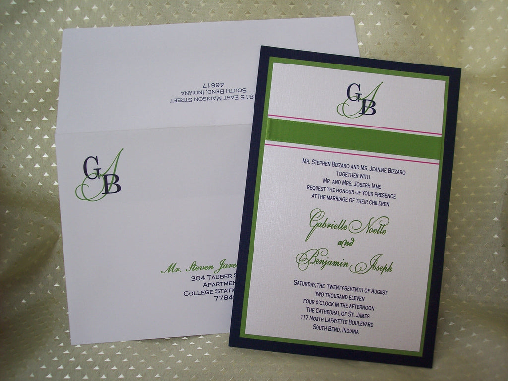 Initials on envelope