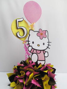 Hello Kitty birthday centerpiece - Designs by Ginny