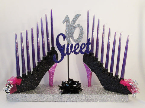 High Heel shoe Candelabra -Sweet 16 - Designs by Ginny