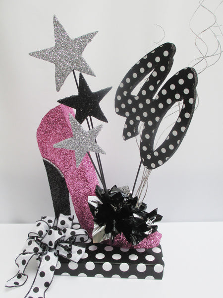 40th High Heel Shoe Centerpiece - Designs by Ginny